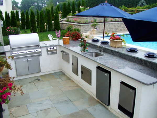 Outdoor kitchen at home