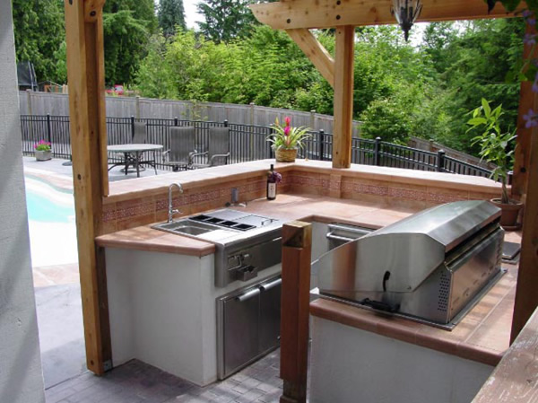 Browse pool outdoor kitchen