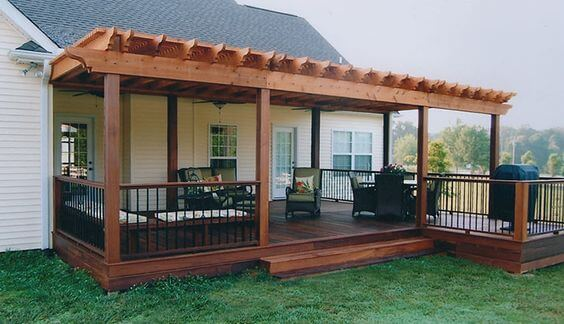 Covered Deck Ideas for Your Home (Amazing Designs ... on Covered Back Deck Ideas id=87513